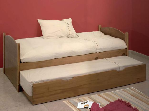 Foto consola madera acacia 4 cajones crema 80x28x90cm for Cama nido color madera